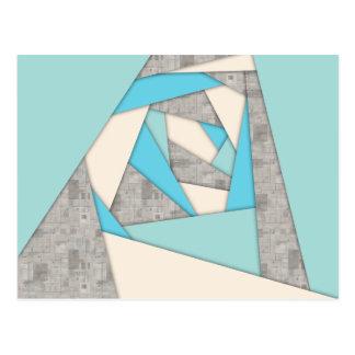 Extracto geométrico de las formas tarjeta postal