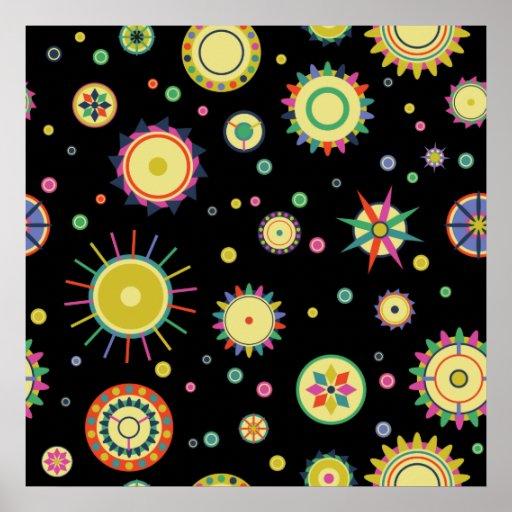 Extracto geométrico de los fractales del círculo d póster