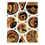 Extracto geométrico del círculo del art déco adapt tarjetas postales