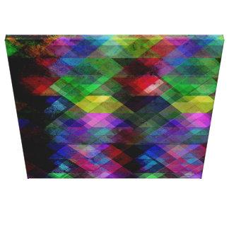 Extracto geométrico del Grunge Impresión En Lienzo