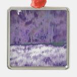 Extracto geométrico púrpura pálido de moda del © P Ornamentos De Navidad