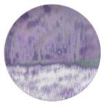 Extracto geométrico púrpura pálido de moda del © P Platos De Comidas