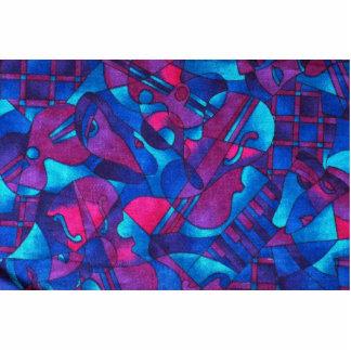 Extracto gráfico ilustrativo - azul-rosado fotoescultura vertical