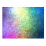 Extracto granoso del arco iris postal