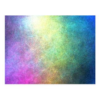 Extracto granoso del arco iris tarjeta postal