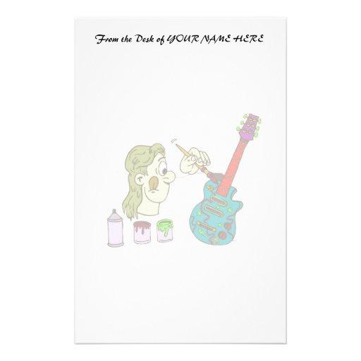 extracto greenish.png colorido de la guitarra de l papelería personalizada