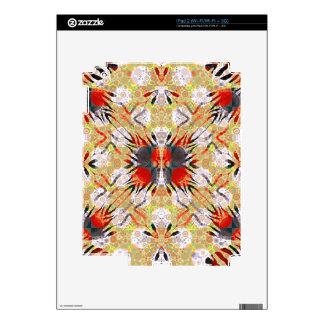 Extracto gris amarillo rojo de la cebra skins para iPad 2