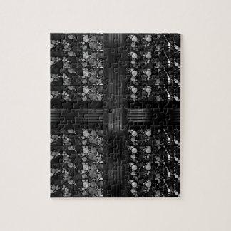 Extracto gris negro de Bling Rompecabezas Con Fotos
