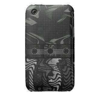 Extracto gris negro de lujo iPhone 3 protector