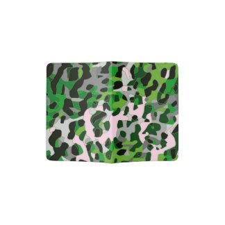 Extracto gris verde fluorescente del guepardo porta pasaporte