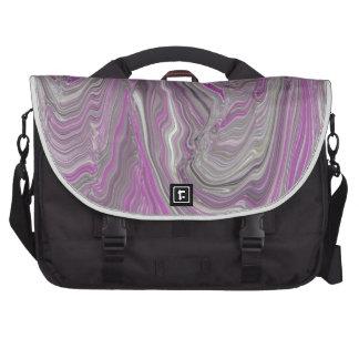Extracto gris y rosado del fluido bolsas para portatil