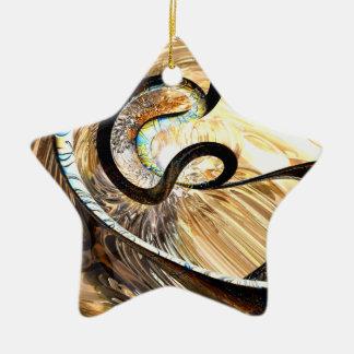 Extracto hereditario de los rasgos adorno navideño de cerámica en forma de estrella