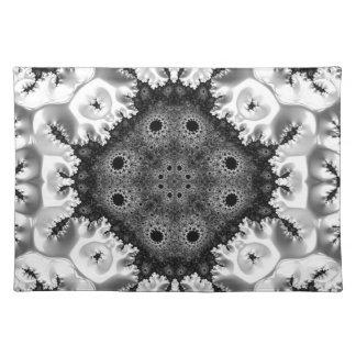 Extracto hermoso del fractal de Black&White Mantel Individual