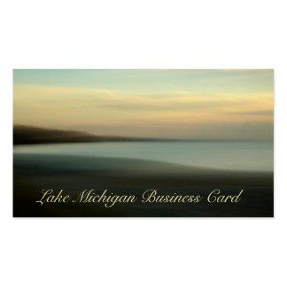 Extracto hermoso del lago Michigan Beachscape Tarjetas De Visita