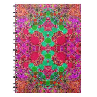 Extracto hermoso loco spiral notebooks
