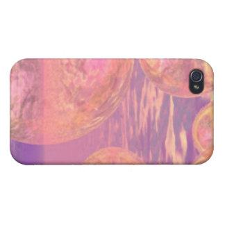 Extracto ideal glorioso de los cielos, rosado y iPhone 4/4S fundas