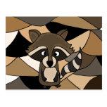 Extracto impresionante del arte del mapache postales