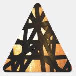 Extracto industrial del metal de la lámpara pegatinas trianguloes