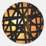 Extracto industrial del metal de la lámpara pegatinas redondas
