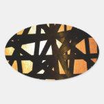 Extracto industrial del metal de la lámpara pegatina ovalada