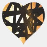 Extracto industrial del metal de la lámpara pegatinas de corazon personalizadas