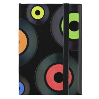 Extracto inspirado retro negro del álbum de disco iPad mini cárcasas