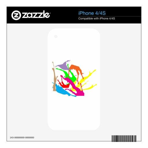 extracto libre de la pintura calcomanías para el iPhone 4S