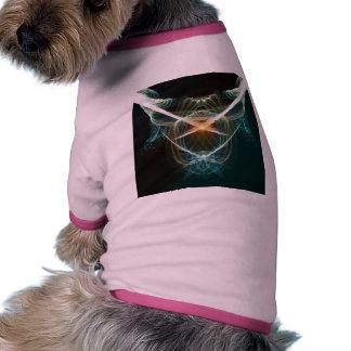 Extracto, líneas que brillan intensamente camiseta con mangas para perro