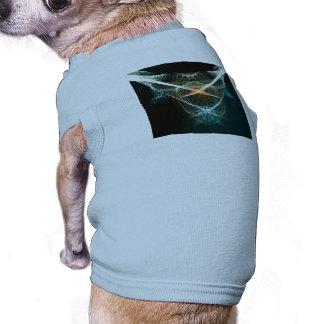 Extracto, líneas que brillan intensamente playera sin mangas para perro