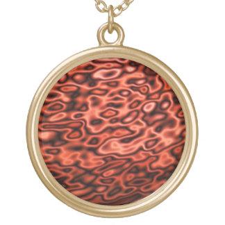 Extracto líquido coloreado del metal rojo colgante redondo
