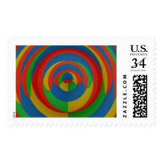 Extracto llamativo de la colección de las pinturas timbres postales