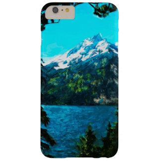 Extracto magnífico de las montañas de Wyoming Funda De iPhone 6 Plus Barely There