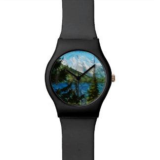 Extracto magnífico de las montañas de Wyoming Reloj De Mano