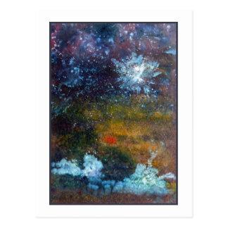 Extracto mar en la noche postal