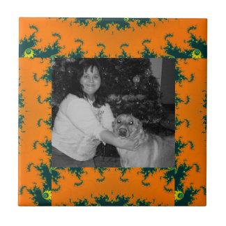 Extracto maravilloso del amarillo anaranjado azulejo cuadrado pequeño