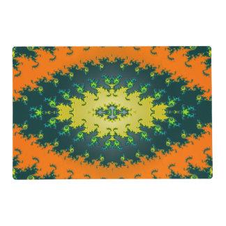 Extracto maravilloso del amarillo anaranjado tapete individual