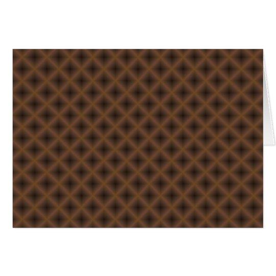 extracto marrón de la cruzar-portilla tarjeta de felicitación