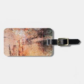 extracto marrón oxidado del humo de la quemadura d etiquetas de maletas
