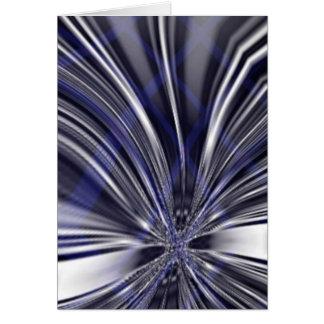 Extracto metálico azul y negro de la mariposa tarjeta de felicitación