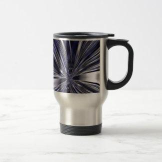 Extracto metálico azul y negro de la mariposa taza de viaje