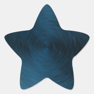Extracto metálico de acero azul cepillado del pegatina en forma de estrella