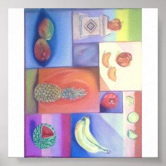 Extracto - mezcla de la fruta del verano póster