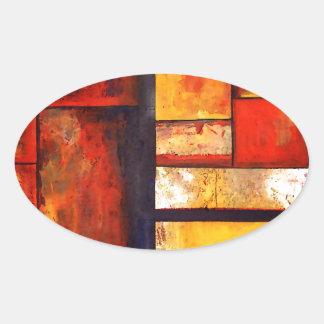 Extracto moderno pegatina ovalada