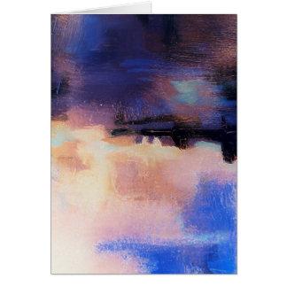 Extracto moderno púrpura azul tarjeta de felicitación