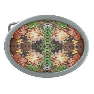 extracto moderno verde marrón hebillas de cinturon ovales