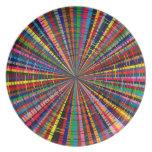 Extracto multicolor de la placa plato de comida