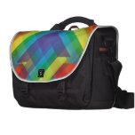 Extracto multicolor de los polígonos bolsas de portátil