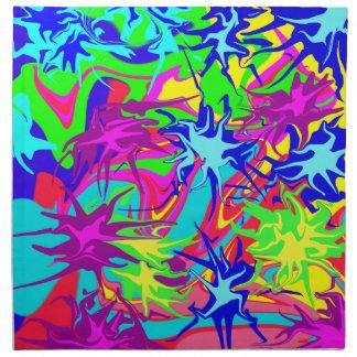 Extracto multicolor psicodélico Trippy del arco ir Servilleta Imprimida