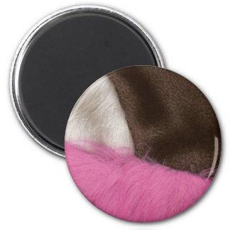 Extracto napolitano de la tela del helado imán redondo 5 cm