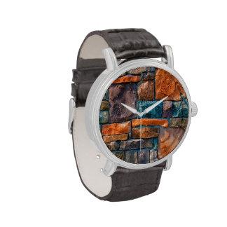 extracto natural de la pared relojes de pulsera